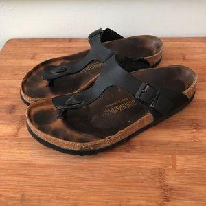 Birkenstock Gizeh Black Thong Sandals 41
